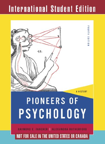 9780393913378: Pioneers of Psychology: Not for Sale in the United States or Canada