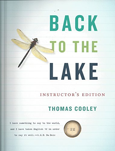 9780393918045: Back to the Lake: A Reader for Writers. Instructor's Edition