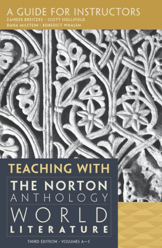 Teaching with the Norton Anthology of World: Brietzke, Zander, Hollifield,