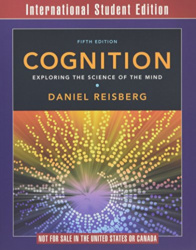 9780393920734: Cognition: Exploring the Science of the Mind