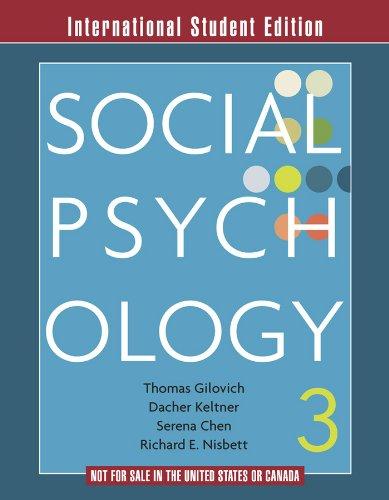 Social Psychology: Gilovich, Thomas
