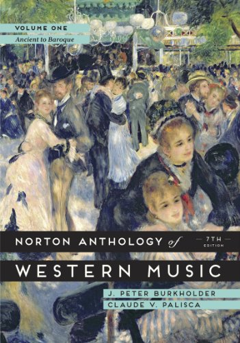 9780393921618: The Norton Anthology of Western Music, Volume 1: Ancient to Baroque