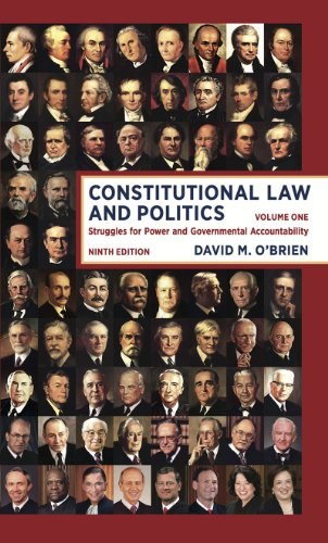 9780393922394: Constitutional Law and Politics: Struggles for Power and Governmental Accountability (Ninth Edition) (Vol. 1)