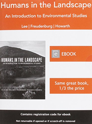 9780393922486: Humans in the Landscape: An Introduction to Environmental Studies
