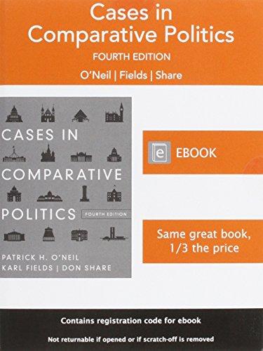 9780393922608: Cases in Comparative Politics