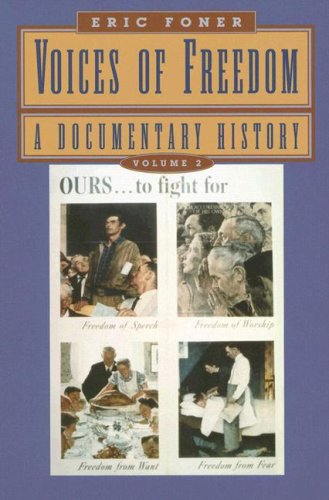 9780393925043: Voices of Freedom: A Documentary History (Vol. 2)