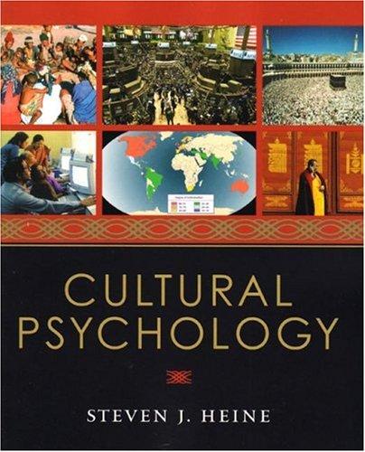 9780393925739: Cultural Psychology