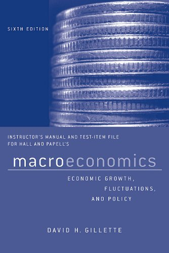 9780393926507: Instructor's Manual and Test Bank: For Macroeconomics: Economic Growth, Fluctuations, and Policy