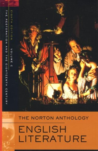 9780393927191: The Norton Anthology of English Literature: Restoration and the 18th Century v. C