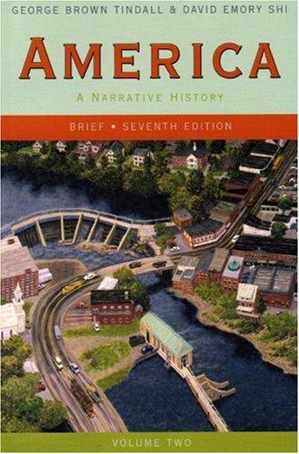 9780393927368: America: A Narrative History (Brief Seventh Edition) (Vol. 2)