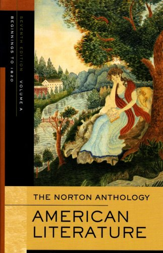 9780393927399: The Norton Anthology of American Literature, Vol. A: Beginnings to 1820