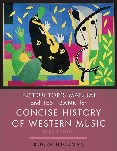 9780393927474: Concise History of Western Music: Instructor's Manual