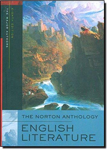 9780393928297: The Norton Anthology of English Literature (Single-Volume 8th Edition)