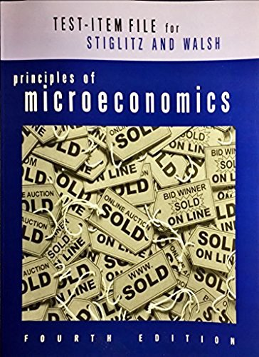9780393928402: Test Bank: For Principles of Microeconomics