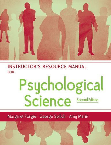 9780393928426: Psychological Science: Instructor's Manual