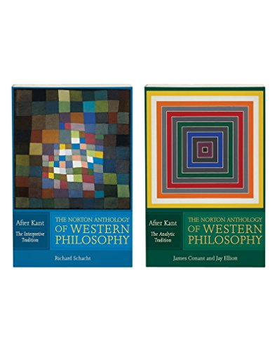 9780393929072: The Norton Anthology of Western Philosophy: After Kant: VOLUME 1: THE INTERPRETIVE TRADITION; VOLUME 2: THE ANALYTIC TRADITION (Vol. Two volume package)