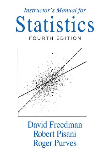 9780393930122: Instructor's Manual: Instructors Manual: For Statistics