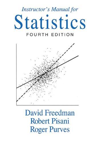 9780393930122: Instructor's Manual: Instructors Manual: For Statistics