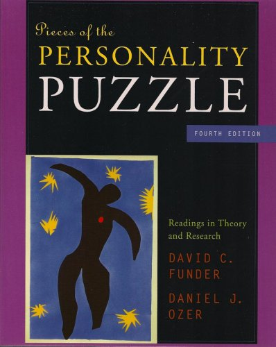 9780393930351: Pieces of the Personality Puzzle: Readings in Theory and Research (Fourth Edition)
