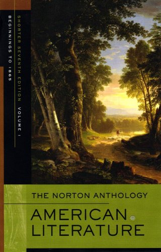 9780393930566: The Norton Anthology of American Literature (Shorter Seventh Edition)  (Vol. 1)