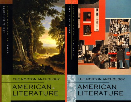 9780393930580: The Norton Anthology of American Literature (Shorter Seventh Edition) (Vol. 1 & 2)