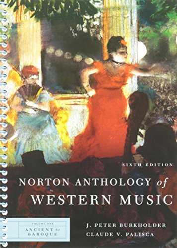 9780393931266: Norton Anthology of Western Music: Ancient to Baroque: 1