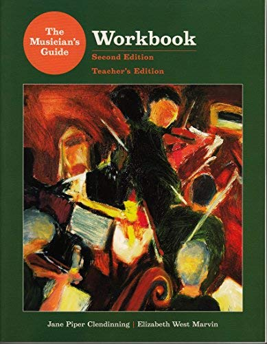 9780393931334: Workbook for the Musician's Guide to Theory and Analysis, 2nd Edition, Teacher's Edition
