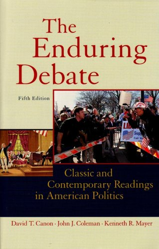 9780393932171: The Enduring Debate: Classic and Contemporary Readings in American Politics, Fifth Edition