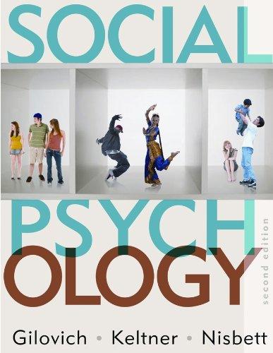 9780393932584: Social Psychology (Second Edition)