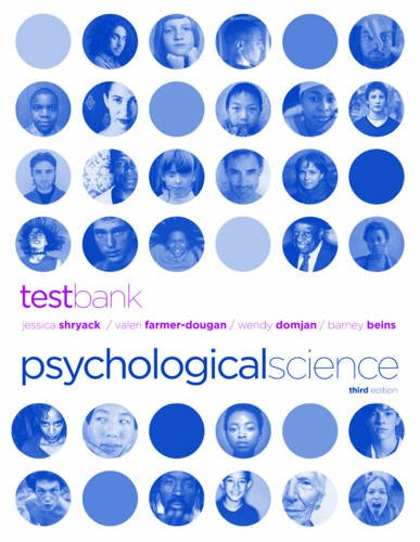 9780393933260: Test Bank: for Psychological Science, Third Edition