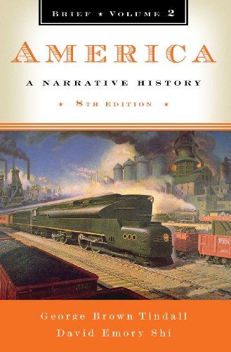 9780393934106: America: A Narrative History (Brief Eighth Edition) (Vol. 2)
