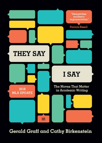 """9780393935844: """"They Say / I Say"""": The Moves That Matter in Academic Writing (Third Edition)"""