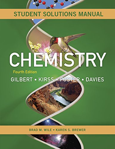 9780393936476: Student's Solutions Manual: for Chemistry: The Science in Context, Fourth Edition