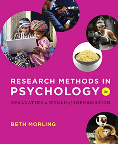 9780393936933: Research Methods in Psychology: Evaluating a World of Information