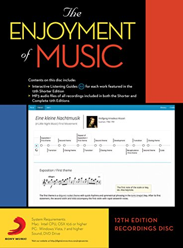 9780393937886: The Enjoyment of Music, 12th Edition