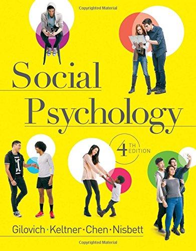 9780393938968: Social Psychology (Fourth Edition)