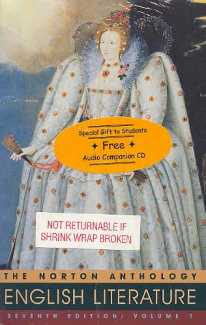9780393947731: The Norton Anthology of English Literature: v.1: Vol 1