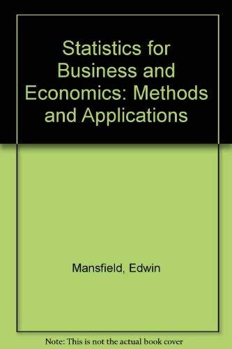 9780393950571: Statistics for business and economics