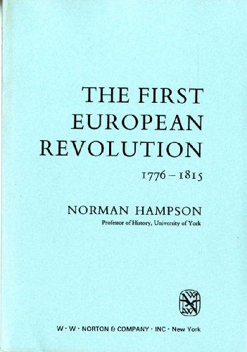 9780393950960: First European Revolution 1776 - 1815 (Library of World Civilization)