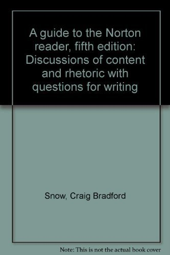 9780393951165: A guide to the Norton reader, fifth edition: Discussions of content and rhetoric with questions for writing