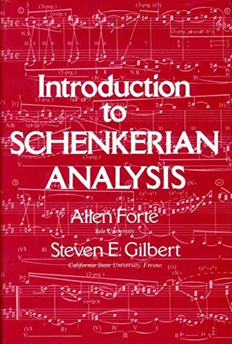 9780393951929: Introduction to Schenkerian Analysis