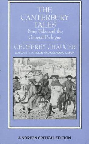 Beispielbild für The Canterbury Tales: Nine Tales and the General Prologue (Norton Critical Editions) zum Verkauf von Your Online Bookstore