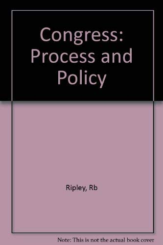 9780393952919: CONGRESS PROCESS & POLICY 3E CL: Process and Policy
