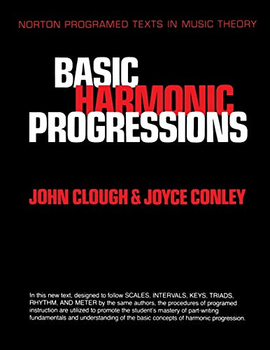 9780393953725: Basic Harmonic Progressions (Norton Programmed Texts in Music Theory)
