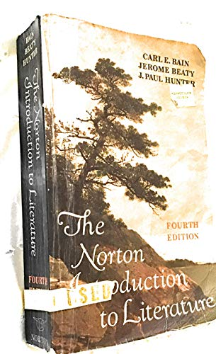 9780393954418: The Norton introduction to literature