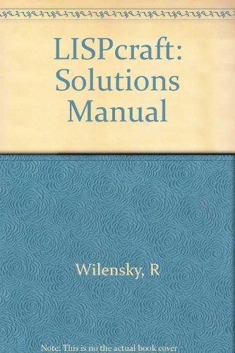 9780393954555: Lispcraft: Instructor's Manual: Solutions Manual