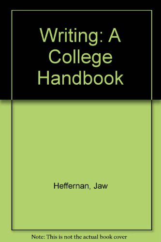 9780393955033: Writing: A College Handbook