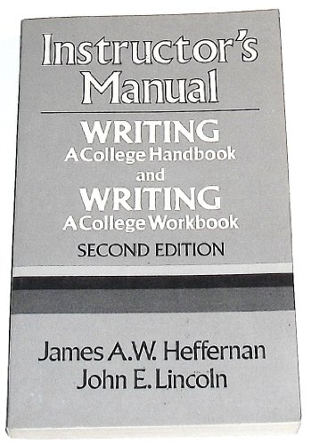 9780393955071: Instructor's Manual: Writing - A College Handbook and Writing - A College Workbook