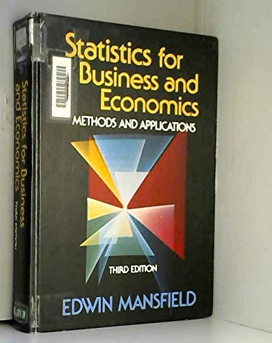 9780393955699: Statistics for Business and Economics: Methods and Applications