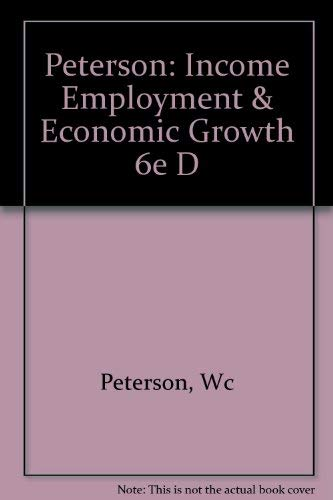 9780393956283: Peterson: Income Employment & Economic Growth 6e D